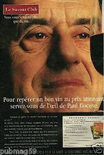 Publicité advertising 2000 Vin Savour Club avec Paul Bocuse