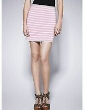 Love Label Pink & White Stripe Ponti Mini Skirt Size 16 BNWT