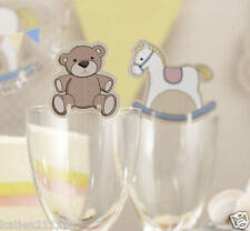 New baby shower party Rock A Bye Baby 10 rocking horse & teddy glass decoration