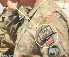 NATO JSOC POLISH TASK FORCE WHITE EAGLE MULTICAM νeΙ©®⚙ INSIGNIA: ISAF + FLAG
