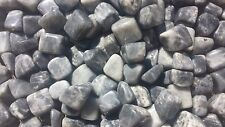 THREE (3) BLACK MOONSTONE TUMBLED STONES MEDIUM/LARGE NATURAL TUMBLE STONES