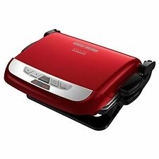 GEORGE FOREMAN Evolve GRILL, Red Indoor 4 in 1 Electric CONTACT GRILL, GRP4800R