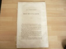 RARE PLAQUETTE 1840 SUR L'ENSEIGNEMENT DES BEAUX ARTS
