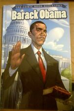 BARACK OBAMA: THE COMIC BOOK BIOGRAPHY HARDCOVER EDITION 2009 1st Printing