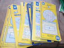 Lot de 17 cartes  Michelin