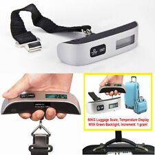 50kg/110lb Hanging Digital Travel Weighing Scale Electronic Luggage Scale