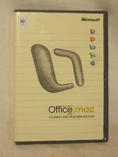 Microsoft Office Mac Student & Teacher 2004 X10-33165 w/ product keys