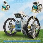 New 14 in 1 Rechargeable Assembly Solar Robot Car Boat Kid Educational Toy Gift