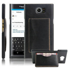 NEW Luxury Wallet Card Holder Shockproof Phone Case Cover For BlackBerry Priv