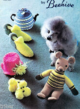 Tea Cozies Slippers Poodle Covers Dog Sweaters Knitting Crochet PATTERNS Toys