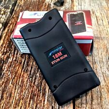 Black MONSTER 18 Million Volt Stun Gun Rechargeable w/LED light New & HOLSTER -f