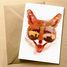 Big town fox – drôle blank art anniversaire carte de vœux cool quirky humour 4for3