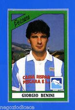 CALCIATORI PANINI 1987-88 - Figurina-Sticker n. 196 - BENINI - PESCARA -Rec