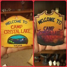Friday the 13th Jason voorhees handmade Camp Blood & Crystal Lake Sign Combo