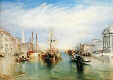 Venecia por Turner 1775-1851. Old Master sobre lienzo. UK Studio Collection. tamaño A4.