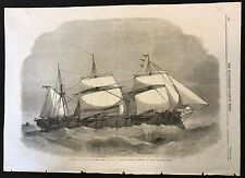 1862 Original Newspaper Print, Her Majesty's Steam-Frigate Defence, 18 Guns