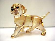 GOLDEN RETRIEVER STANDING PUPPY DOG 2013 SWAROVSKI   #1142824