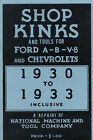 Ford V8 Model A Hints for Common Repair 1930-1931-1932-1933 Shop Kinks and Tools