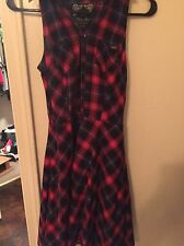 Guess Jeans Women's Multi Colored Plaid Cinched Waist Tunic Size S