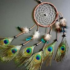 Dream Catcher Peacock Feather Home Wall Hanging Room Decoration Ornament 22