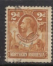 NORTHERN RHODESIA 1925 -29 KGV 2d Brown SG4 (B213
