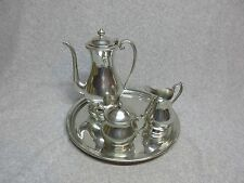 Vintage KIRK STIEFF PEWTER Serving SeT TRAY,PITCHER,CREAM,SUGAR w/Lid Tea,Coffee