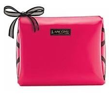 New Lancome Cosmetic Makeup train Bag case pouch Hot Pink Ribbon patent leather