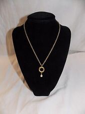 Signed Christian Dior Necklace with Pearl Pendant