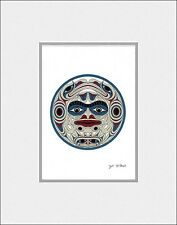 New matted art print - THE MOON by Coast Salish Cowichan artist JOE WILSON