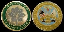 US ARMY LIEUTENANT COLONEL O5 RANK CHALLENGE COIN MILITARY COLLECTIBLE COINS