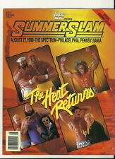 wwf 1990 Summerslam Offical Program PPV WWE