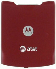 OEM AT&T MOTOROLA V3XX BACK COVER BATTERY DOOR RED