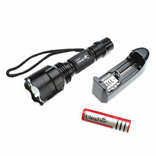 2200 Lumens  C8 CREE XM-L T6 5-mode LED Flashlight Torch +Charger