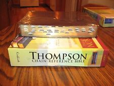KJV Thompson Chain-Reference Burgundy Bonded Leather Bible, Thumb-Indexed, SALE