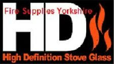 High Definition Heat Resistant Stove Glass Dunsley Yorkshire Stove. G382244
