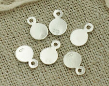 925 Sterling Silver 20 Round Tag Charms 5mm.