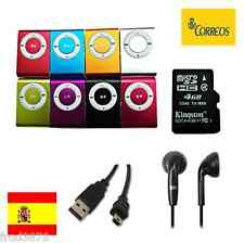 MINI REPRODUCTOR MP3 CLIP + AURICULARES + MICRO SD 4GB + CABLE USB