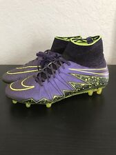 Nike Hypervenom Phantom II FG - Purple/Volt- (747213-550) Men's Sz 9