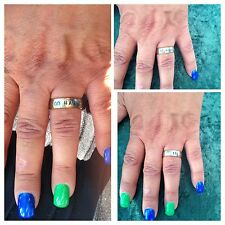 We Love The Seattle Seahawks - Go Hawks Ring Stainless Steel Band