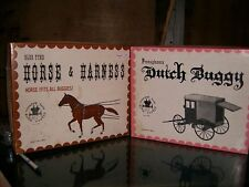 Vintage Wood Model Dutch Buggy and Horse