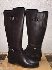 UGG BERYL WIDE STOUT LEATHER EQUESTRIENNE BOOTS US 7.5 / EU 38.5 / UK 6 NEW
