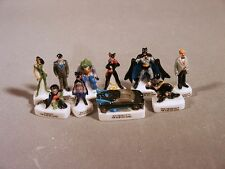 Batman and Robin Miniature Porcelain French Feve Figures Set