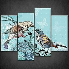 TWO BIRDS ABSTRACT SPLIT CANVAS WALL ART PICTURES PRINTS LARGER SIZES AVAILABLE