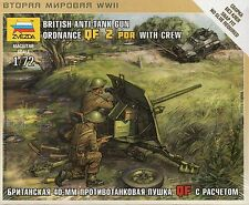 Zvezda 1/72 Figures British Ordnance QF 2 Pounder Anti Tank Gun with Crew Z6169