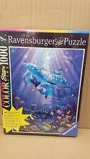 RAVENSBURGER 1000pc GLOW IN THE DARK DOLPHIN PUZZLE BENEATH THE SEA £ 10.99