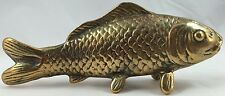 """Solid Brass Vintage FISH STANDING ON FINS Figure Length 6"""" Width 1"""" Height 2.5"""""""