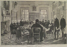 THE BRITISH CABINET IN SESSION ENGLAND ENGRAVING HARPER'S WEEKLY 1870