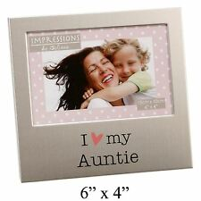 I LOVE MY AUNTIE  ALUMINIUM PHOTO PICTURE FRAME GIFT 6 X 4 - BY JULIANA