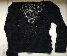 Moschino Black See though Knitted Jumper