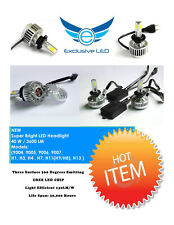 Motorcycle LED Headlamp Bulb Upgrade Kits H4 / H1 / H3 / Fitment  12v 32w 3000LM
